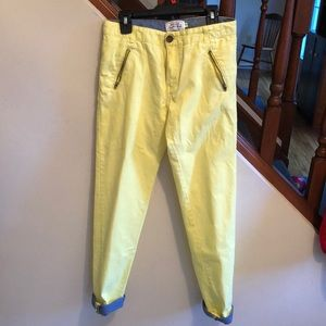Boys Pants size 12, yellow, almost new